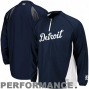 Majestic Detroit Tigers Navy Blue Gamer Quarter-zip Performance Jacket