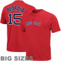 Majestic Dustin Pedroia Bozton Red Sox #15 Player Big Sizes T-qhirt - Red