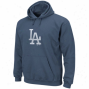 Majestic L.a. Dodgers Royal Blue Big Time Play Hoodie Sweatshirt