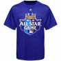 Majestic Mlb 2012 All Star Plan Official Logo T-shirt - Royal Blue