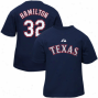 Majestic Texas Rangers   #23 Josh Hamilton Babe Navy Blue Player T-shirt