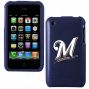 Milwaukee Brewers Navy Blue Iphone 3g Laborious Snap-on Case