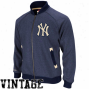 Mitchell & Ness New York Yankees Navy Blue Intrasauad Cooperstown Full Zip Jacket
