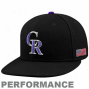 New Era Colorado Rockies Black On-field 59fifty Usa Flag Fitted Performance Hat