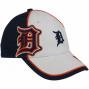 New Era Detroit Tigers Youth White-navy Blue Wazbon Adjustable Hat