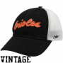 Nike Baltimore Orioles Black-white Cooperstown Bequest 91 Vintage Mesh Back Flex Fit Hat