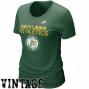 Nike Oakland Athletics Ladies Green Dugout Logo Vintage Tri-blend T-shirt