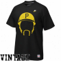 Nike Pittsburgh Pirates Willie Stargell Black Hair-itage T-shirt
