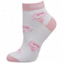 San Diego Padres Ladies White-pink Allover Team Logo Ankle Socms
