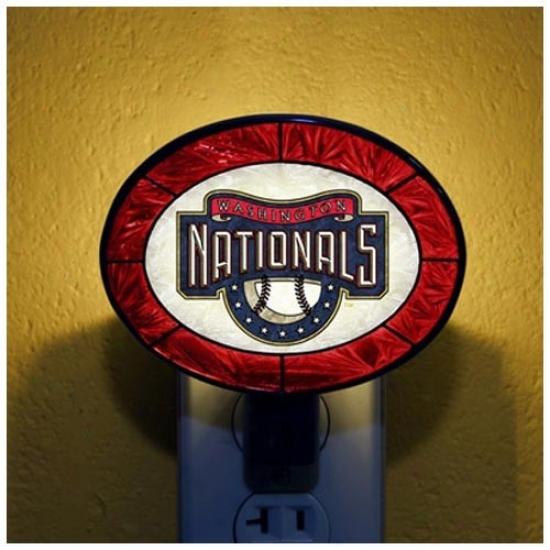Washington Nationals Hand-painted Glass Nightlight