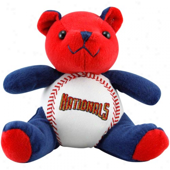 Washington Nationals Plush Cheering Baseball Bear