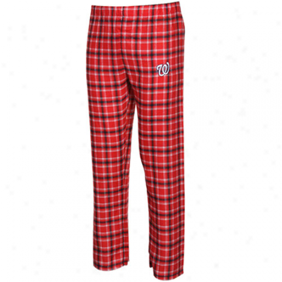 Washington Naionals Youh Red-navy Blue Plaid Legend Flannel Pants
