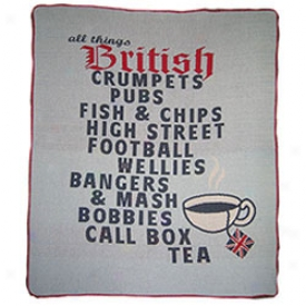 All Things British Throw Blanket