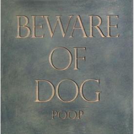 Beware Of Dog (poop) Stepping Stone