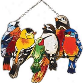 Birds On Wire Suncatcher