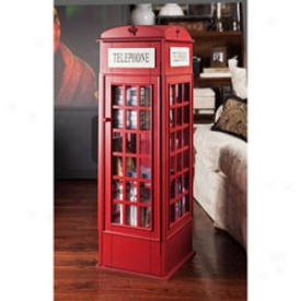 British Call Box Media Cabinet