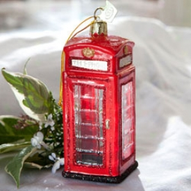 British Call Box Ornament