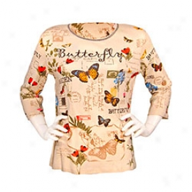 Butterfly Tee Small-natural