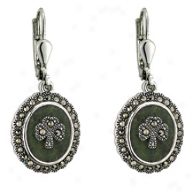 Connemara Marble And Marcasite Earrings
