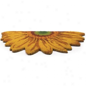 Daisy Shaped Doormat Yelloa