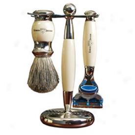 Edwin Jagger Premium Razor And Brush Set