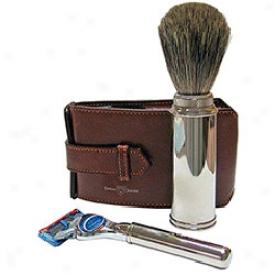 Edwin Jagger Premium Razor & Brush Travel Set