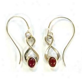 Garnet Twist Ladies Earrings