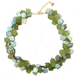 Glass Leaves Necklace