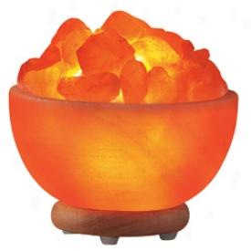 Himalayan Crystal Salt Bowl Lamp