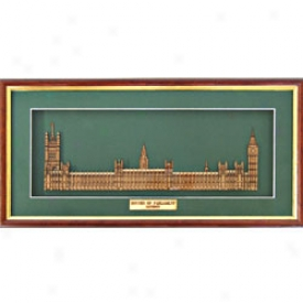 Houses Of Parliament Woodcut Sculpture