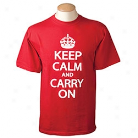 Keep Calm And Carry On T-shirt Extra Large-red