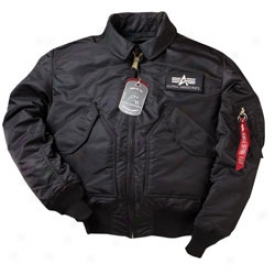 Military Issue Pilot Jacket Medium-black