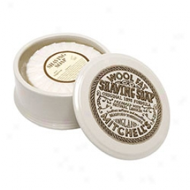 Mitchell's Original Wool Fat Shaving Soap & Dish