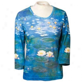 Monet Water Lilie Tee Large