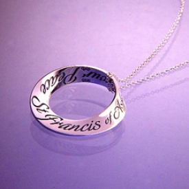 Prayer Of St Francis Mobius Necklace
