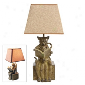 Reading Cats Lamp