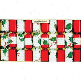 Robin-redbreast Reed Holly Berry Christmas Crackers 10 Pack