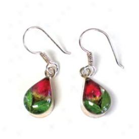 Rosebud Teardrop Earrings