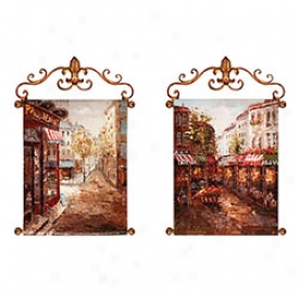 Rue De Paris Painted Canvases