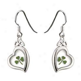 Shamrock Heart Earrings