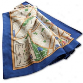 Silk Map Scarves London