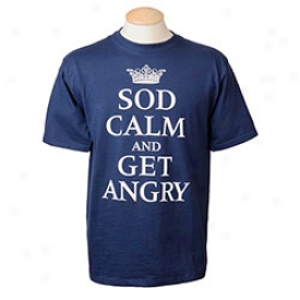 Sld Calm And Get Angry T-shirt Small-blue