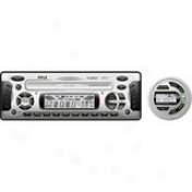 1.5 Din Marine Dvd/cd/mp3 Performer Receiver With Weatherband Radio