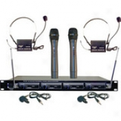 4 Microphone Vhf Wireless Microphone System