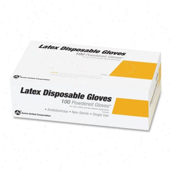Acme Unitec Nonsterile Latex Examiination Gloves
