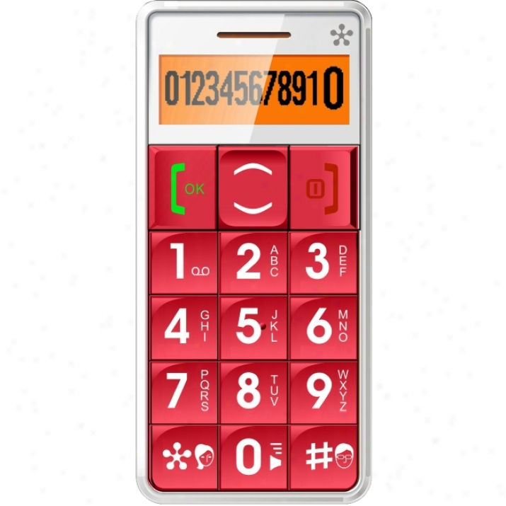 """Acp - Memory Upgrades Just5- Mobile Handset Gsm Compatible """"unlockeed"""" Red"""