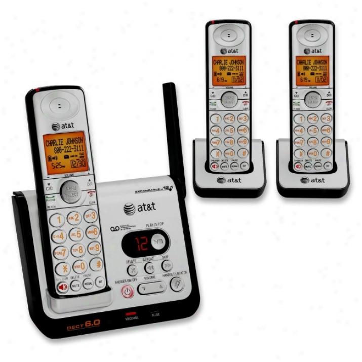 At&t Cl82309 Digital Three Handset Answering System