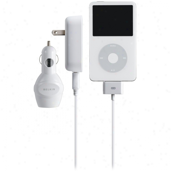Belki nAuto/ac/usb Charger For Ipod (white)