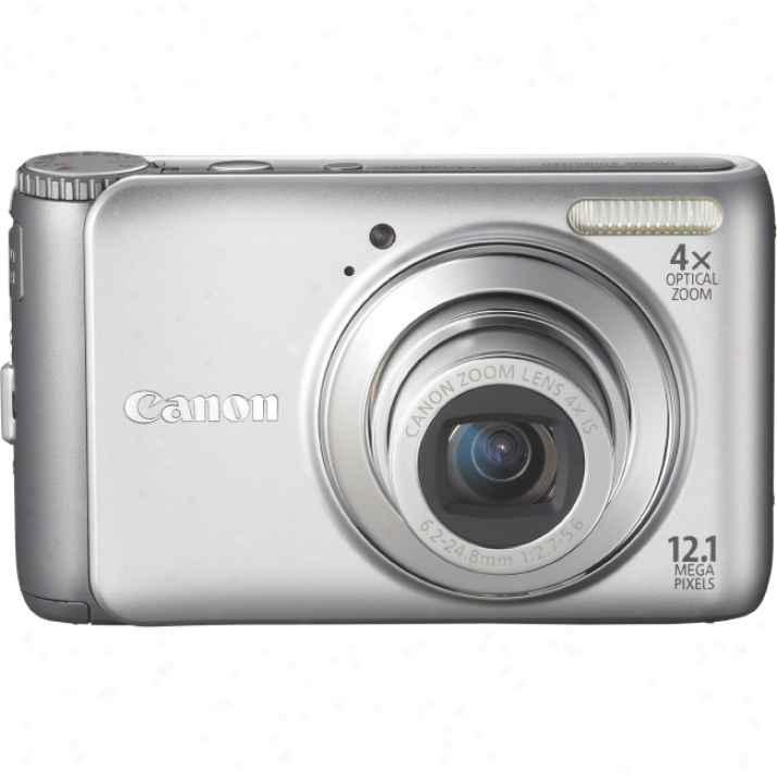 Canon Powershot A310 0Is 12.1 Megapixel Compact Camera - 6.20 Mm-24.80 Mm - Silver