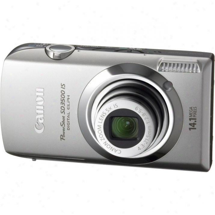 Canon Powershot Sd3500 Is 14.1 Megapixel Compact Camear - 4.30 Mm-21.50 Mm - Silver